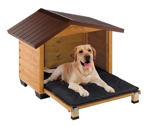 Место для собаки из дерева